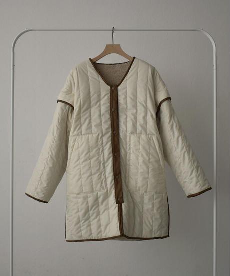 outer-04015 日本製 リバーシブル キルティング ボア コート