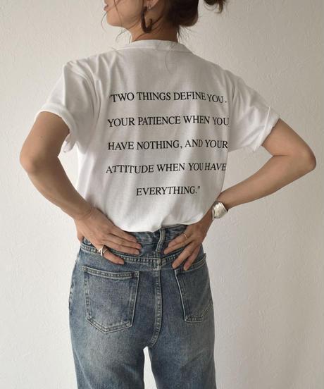 nh-tops-02159 ポケット付き バックメッセージ Tシャツ
