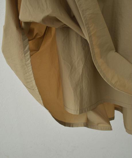 bottoms-07008 撥水 ボリューム フレア マキシ スカート ベージュ ブラック