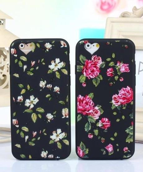 mb-iphone-02018 花柄 ハート型 カメラ穴 iPhoneケース