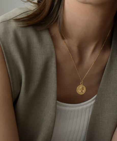 mb-necklace2-02052 SV925 コインネックレス シルバー925 ゴールド