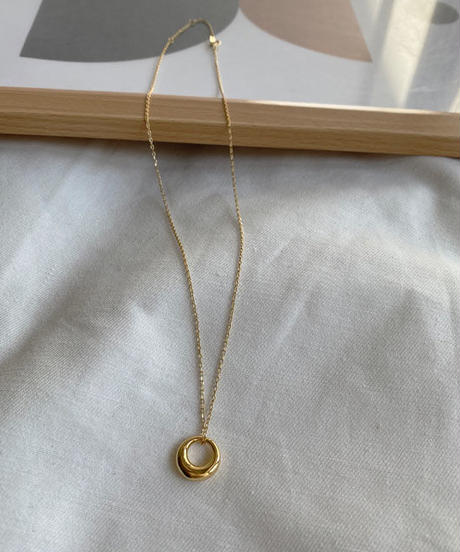 mb-necklace2-02031 SV925 サークルリング ネックレス シルバー925  ゴールド