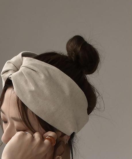mb-hair2-02028 リングデザイン リネンヘッドバンド