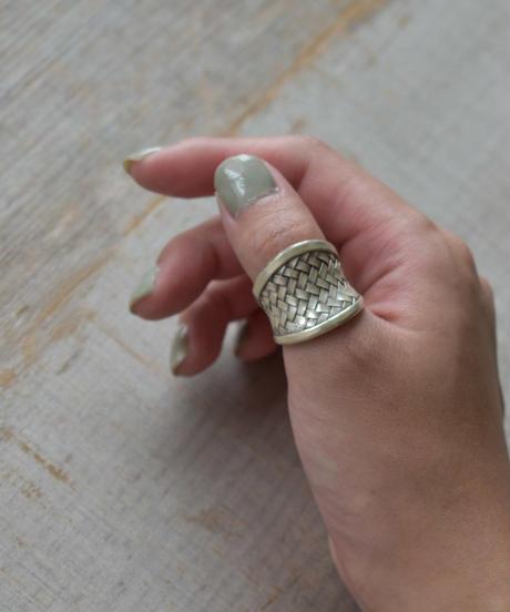 mb-ring2-02128 ブレード ワイドリング カレンシルバー
