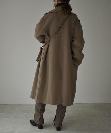 coat-02030  ウールトレンチコート リバー仕立て モカ