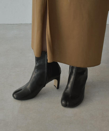 shoes-02115 足袋ブーツ スクエアヒール ブラック