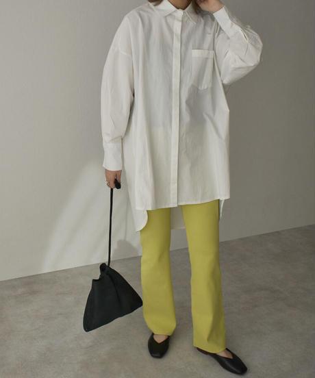 tops-02202 バックオープンシャツ ホワイト カーキ