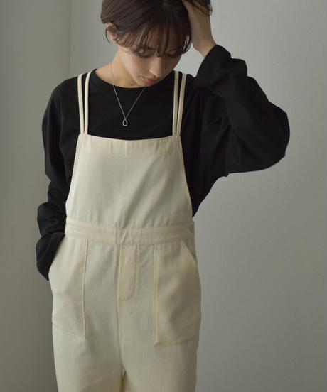 tops-02271 フロントスリットロングTシャツ ホワイト ブラウン チャコール ブラック