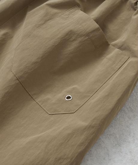nh-swim-07001 タック入り スイムショートパンツ ベージュ カーキ ダークブラウン ブラック