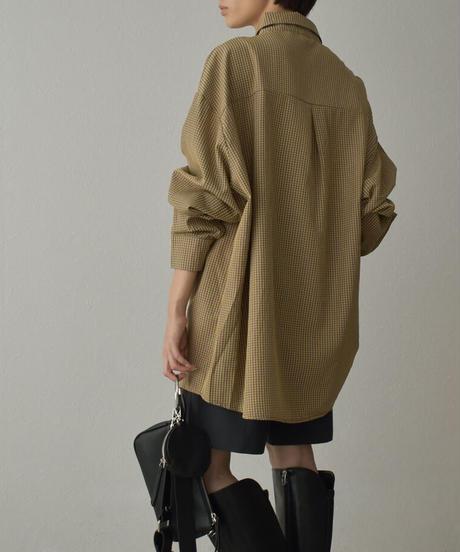 tops-02264 オーバーサイズ チェックシャツ
