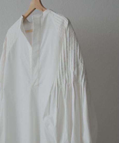 onepiece-04033W タックスリーブシャツワンピース ホワイト