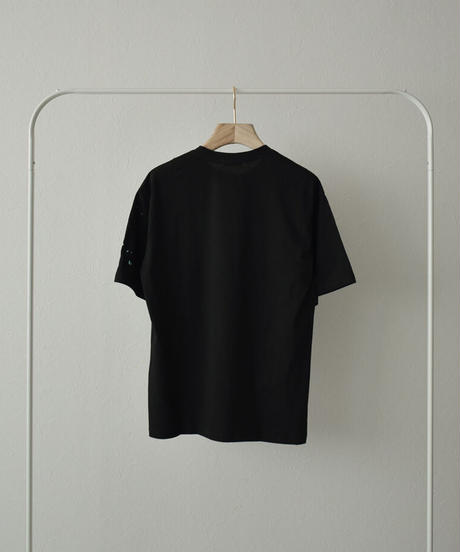 nh-tops-02236 COLOR  DRIPPING  Tシャツ ブラック
