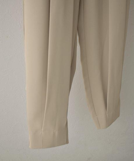 bottoms-07010 裾タック コクーンパンツ グレージュ ブラック