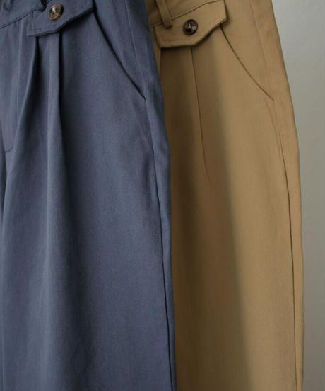 bottoms-02114 コットン テーパードパンツ ベージュ ネイビー
