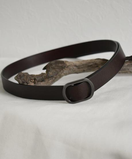 mb-belt-02036 本革レザー バックルベルト ブラック ダークブラウン