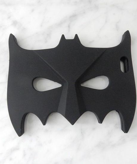 mb-iphone-02089 バットマン マスク デザイン ブラック  iPhoneケース