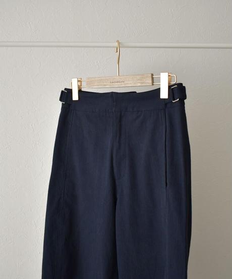 6月下旬から7月上旬入荷分 予約販売 bottoms-02105 サイドベルト セミワイド パンツ ネイビー
