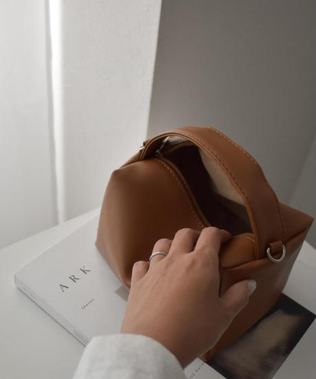 bag2-02580 ミニボックスバッグ ブラウン