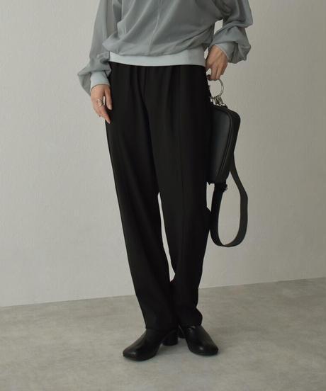 bottoms-04047 日本製 ポンチ テーパードイージー パンツ グレーブルー ブラウン ブラック