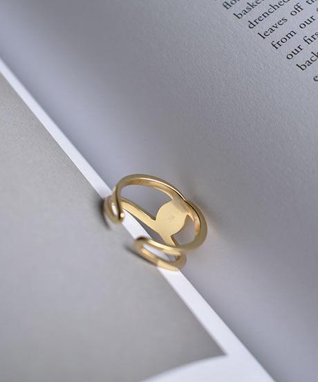 mb-ring2-02106 SV925  ツイストクロスリング    シルバー925  ゴールド