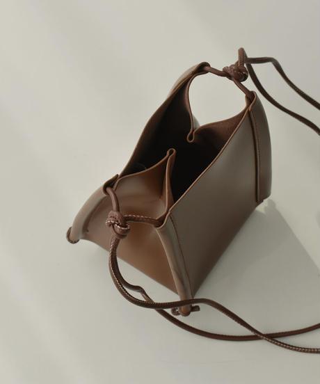 bag2-02560 ミニ スクエア ショルダー バッグ エクリュ ベージュ ブラウン ブラック