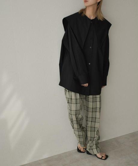 tops-02213  ビッグカラー シャツ ブラック