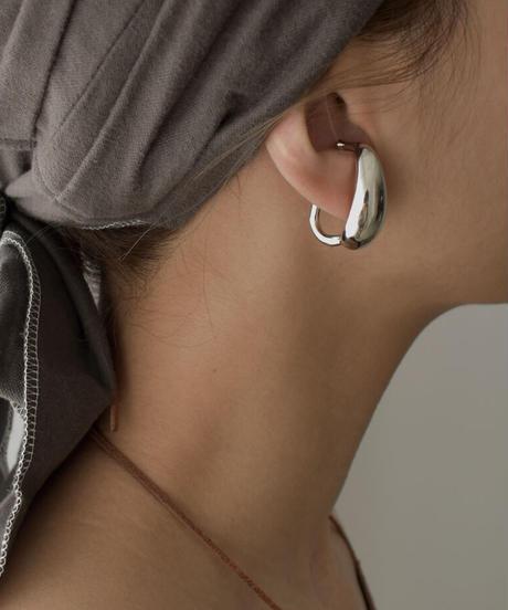 mb-earcuff-02028 ビッグドロップ イヤーカフ シルバー