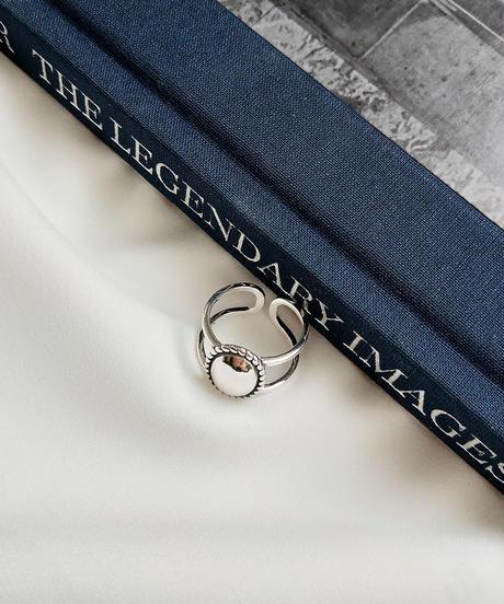 mb-ring2-02018 SV925 楕円プレーンコンチョ 2ラインリング シルバー925リング