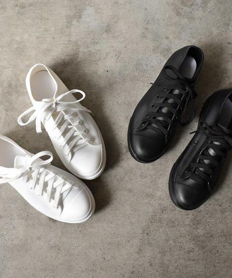 rainshoes-02007 スニーカーデザイン レインシューズ ホワイト ブラック