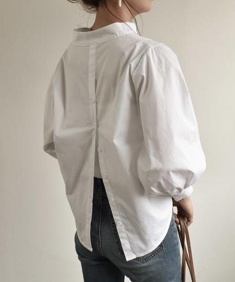 tops-02071 バックスリット スキッパーシャツ