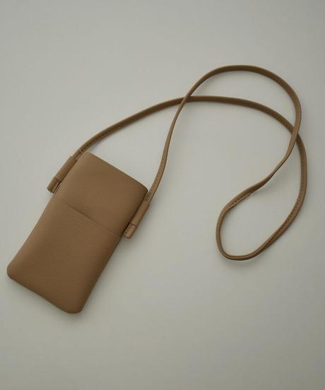 nh-bag2-02569 エコレザー ミニ ポーチ グレージュ サックス キャメルベージュ ブラウン ブラック