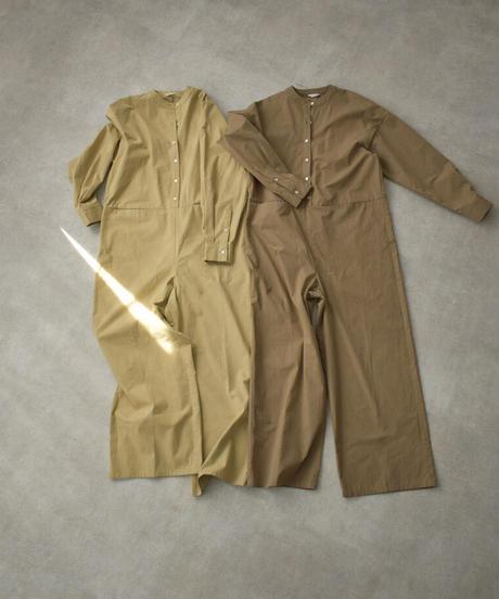 onepiece-07010 バンドカラージャンプスーツ ベージュ モカ
