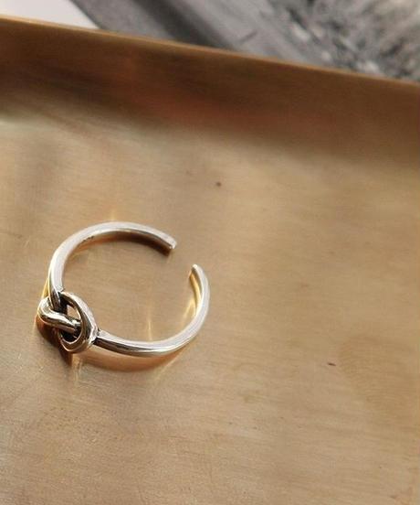 mb-ring2-02067 SV925 シングルノットリング シルバー925