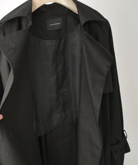 outer-02038  オーバーサイズ トレンチコート ブラック