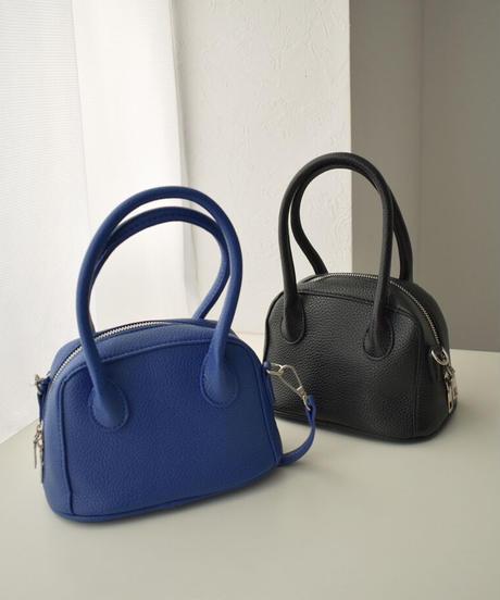 bag2-02573 ミニ ボストン バッグ ブルー ブラック