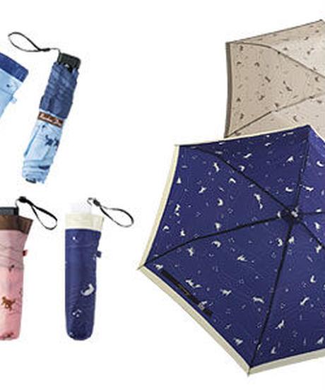 MZ004 ネイビーの折傘~メロディーキャット