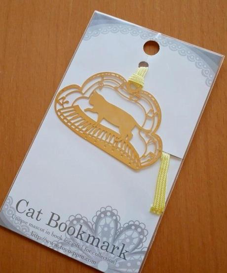 BC003 猫と鍵盤のしおり(ゴールド)