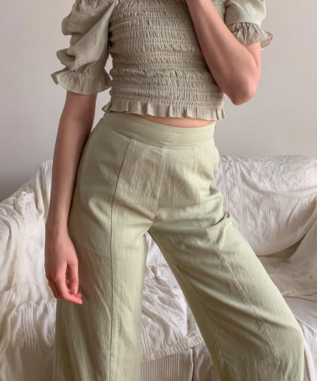 Cotton wide pants