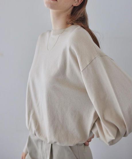 """L"" mark basic knit pullover"