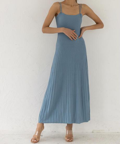 Pintack knit dress