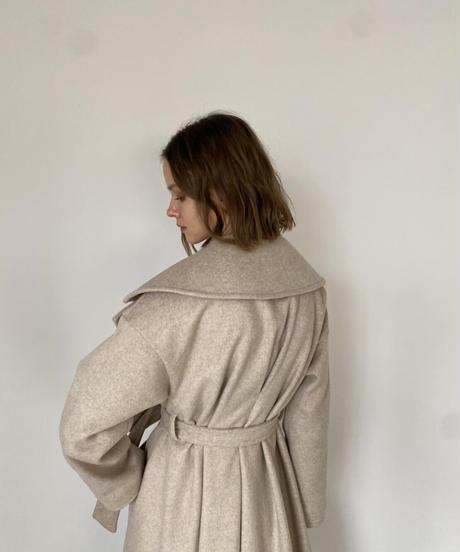 Brushed face big collar coat