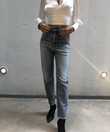Tapered High-waist Denim