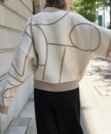 LIB JOIE 2way jaquard knit pull over