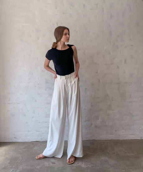Over length wide pants