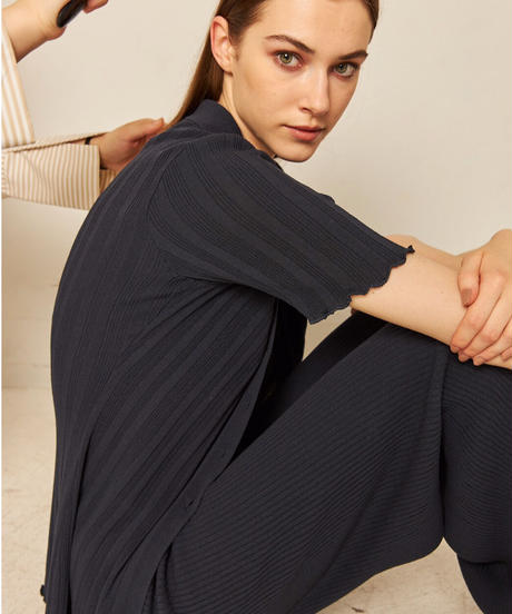 chill time knit polo cardigan