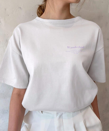 Wonderlust message T-shirt