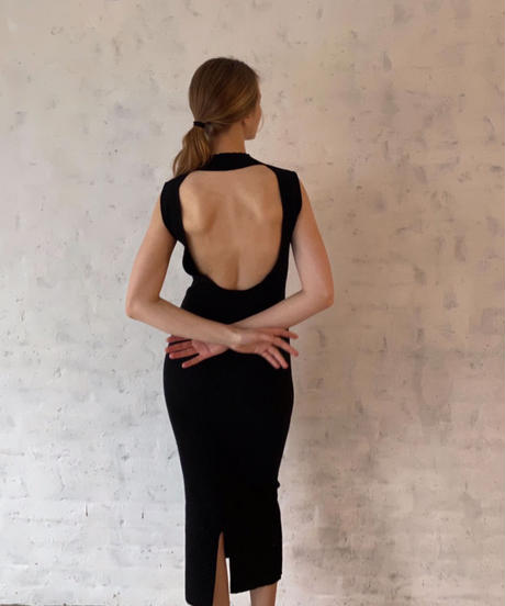 open back  slim knit dress