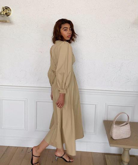 Button point cotton dress