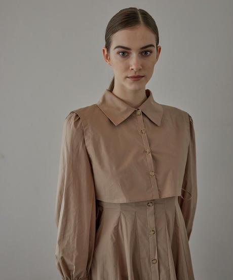 Layered flare shirts dress