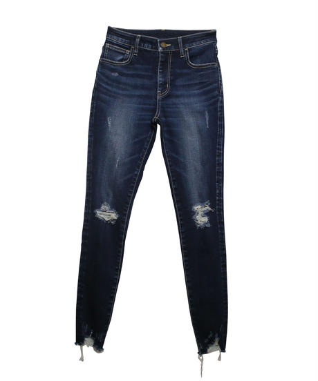 Clash Skinny High-waist Denim